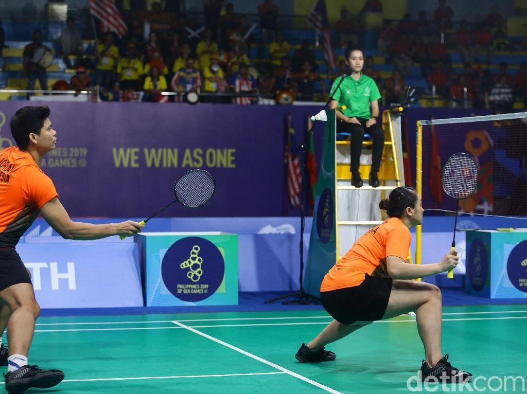 Dalam pertandingan final perorangan bulutangkis nomor ganda campuran di Muntinlupa Sports Center, Senin (9/12/2019) pagi WIB, Praveen/Melati dipaksa bermain ketat sepanjang tiga gim.