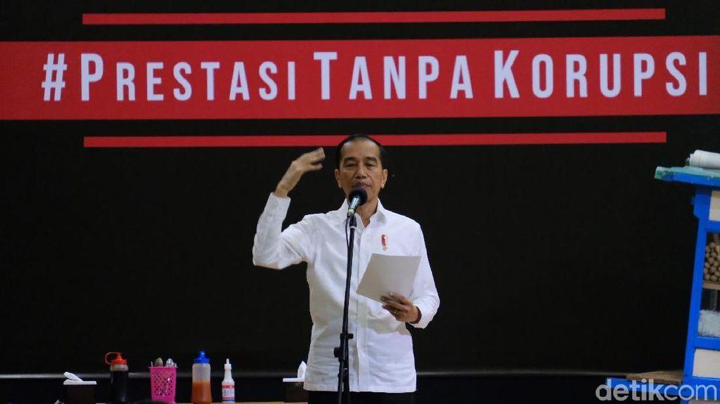 Kini Absen, Begini Momen Jokowi Saat Hadiri Hari Antikorupsi Bersama KPK