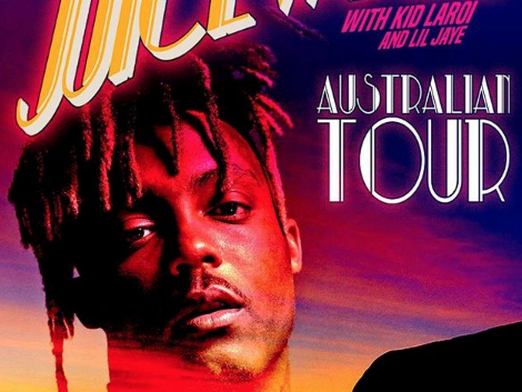 Pada bulan November lalu, Juice WRLD baru saja melakukan tur di Australia. Dok. Instagram/juicewrld999