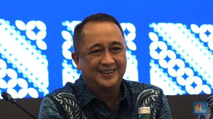 Direktur Utama Bank Mandiri, Royke Tumilaar (CNBC Indonesia/Muhammad Sabki)