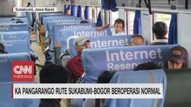 VIDEO: KA Pangarango Rute Sukabumi-Bogor Beroperasi Normal