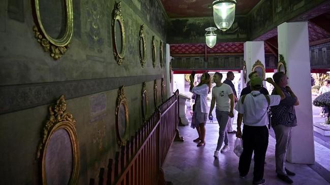 Nuad Thai atau pijat ala Thailand rencananya bakal dimasukkan ke dalam daftar 'Warisan Budaya Takbenda' pada pertemuan tahunan Unesco di Bogota, Kolombia, Desember 2019. (Photo by Romeo GACAD / AFP)