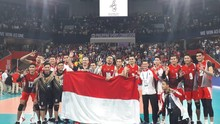 Tim Voli Putra Indonesia Raih Emas SEA Games 2019