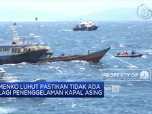 Yah, Luhut Hentikan Penenggelaman Kapal Pencuri Ikan