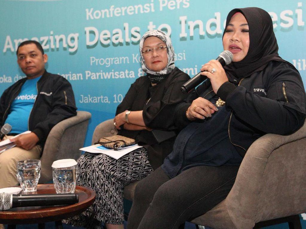 Program Amazing Deals to Indonesia yang baru saja diluncurkan di Jakarta, Selasa (10/12) bertujuan untuk meningkatkan atau menggenjot wisatawan mancanegara ke Indonesia dalam rangka libur natal dan tahun baru. Foto: dok. Traveloka