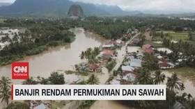 VIDEO: Banjir Rendam 6 Kecamatan di Sumbar