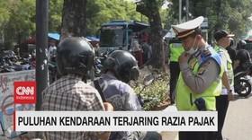 VIDEO: Puluhan Kendaraan Terjaring Razia Pajak di Jakarta