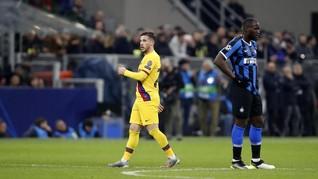 Babak I Liga Champions: Inter vs Barcelona Imbang 1-1