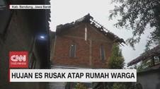 VIDEO: Hujan Es di Bandung Rusak Atap Rumah Warga
