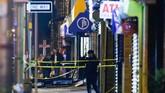 Mereka bahkan mengerahkan tim Taktis dan Senjata Khusus (SWAT) untuk menghadapi para pelaku, Polisi negara bagian sampai agen Biro Penyelidik Federal (FBI) ikut turun tangan.(AP Photo/Eduardo Munoz Alvarez)