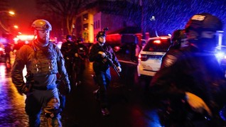 FOTO: Suasana Mencekam Baku Tembak di New Jersey