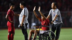 FOTO: Lara Evan Dimas di Kursi Roda Usai Final SEA Games 2019