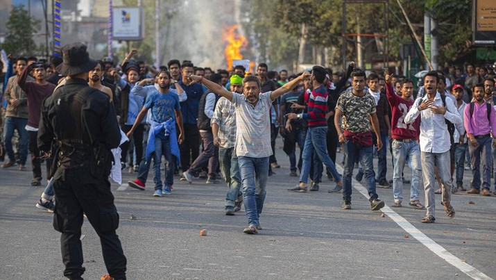 Demo Dahsyat di India Usai UU 'Anti Muslim' Disahkan