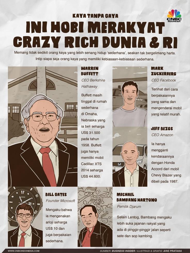 Sederet crazy rich yang masih hidup sederhana.