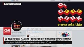 VIDEO: VP Awak Kabin Garuda Laporkan Akun Twitter @digeeembok