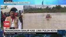 VIDEO: Penanganan Banjir di Kabupaten 50 Kota, Sumatera Barat