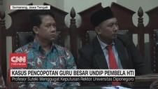 VIDEO: Kasus Pencopotan Guru Besar Undip Pembela HTI