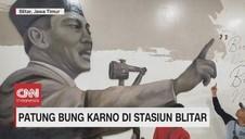 VIDEO: Penampakan Patung Bung Karno di Stasiun Blitar