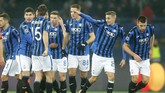 Atalanta yang baru pertama kali berlaga di Liga Champions berhasil melaju ke babak 16 besar setelah menang 3-0 dalam laga tandang melawan Shakhtar Donetsk di Stadion Metalist, Kharkiv, Ukraina.(AP Photo/Efrem Lukatsky)