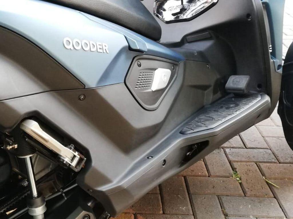Qooder merupakan singkatan dari Quad Scooter atau skuter beroda empat. Foto: Rizki Pratama