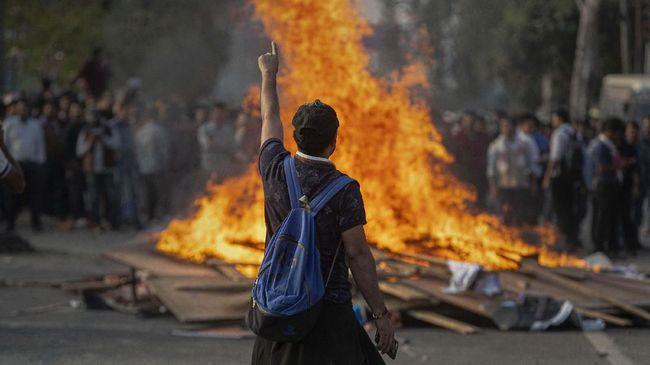 Empat Tewas Dalam Demo Saat Kunjungan Trump ke India
