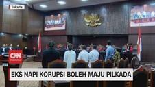 VIDEO: MK Putuskan Eks Napi Korupsi Boleh Maju Pilkada