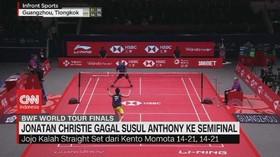 VIDEO: Jonatan Christie Gagal Susul Anthony ke Semifinal