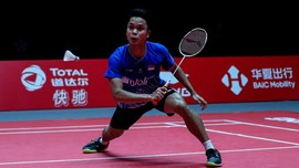 Ditekuk Momota, Anthony Ginting Gagal Juara BWF World Tour