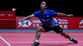 Kaki Lecet Bikin Anthony Ginting Gagal Juara BWF World Tour