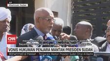 VIDEO: Mantan Presiden Sudan Divonis Hukuman Penjara
