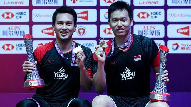 Juara BWF World Tour Finals, Ahsan/Hendra Kawinkan Tiga Gelar