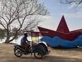 Patung Seniman Jadi Spot 'Selfie' di Kepulauan Seribu