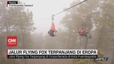 VIDEO: Flying Fox Terpanjang di Eropa Mencapai Hampir 2 KM
