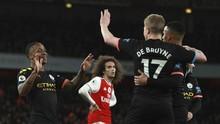Man City Unggul 3-0 atas Arsenal di Babak Pertama