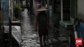 Kepala Dinas Sumber Daya Air DKI Jakarta Juaini mengakui sejumlah kawasan di Jakarta sempat tergenang air, salah satunya di kawasan FX Sudirman dan kawasan Gelora Bung Karno (GBK), namun tidak bertahan lama. (CNN Indonesia/Adhi Wicaksono)