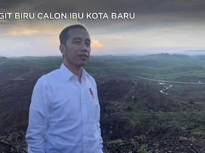 Aksi Jokowi Berlumpur di Ibu Kota Baru yang Berlangit Biru