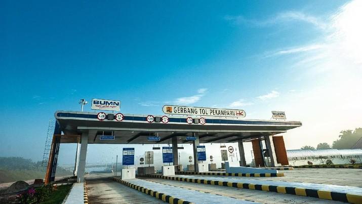 PT Hutama Karya (Persero) telah membangun jalan tol trans Sumatera sepanjang 469,5 kilometer.