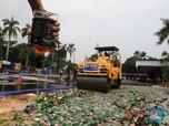 Intip Jutaan Rokok & Ribuan Miras Rp 6,46 M yang Dimusnahkan