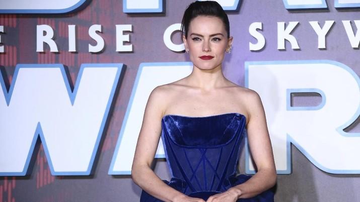 Para pemain film berpose pada pemutaran perdana untuk film 'Star Wars: The Rise of Skywalker', di London. Film Ini merupakan penutup saga Star Wars;