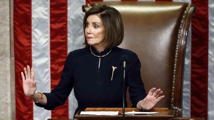 Ketua DPR Nancy Pelosi dari California. (AP Photo/Andrew Harnik)