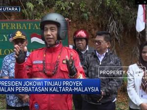 Begini Gaya Jokowi Tinjau Perbatasan Kalimantan Utara