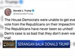 Trump Serang Balik Partai Demokrat di Twitter
