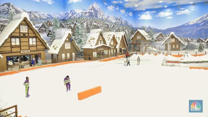 Ingin liburan akhir tahun di arena bersalju? Tak perlu pergi keluar negeri karena Trans Snow Bintaro meiliki arena permainan yang diselimuti salju.