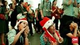 Christmas in Jakarta sendiri menjadi bentuk dukungan DKI kepada setiap perayaan keagamaan di Jakarta.(CNN Indonesia/Andry Novelino)