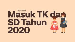 INFOGRAFIS: Syarat Masuk TK dan SD 2020