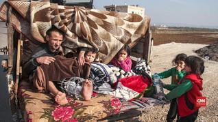 VIDEO: Warga Suriah Selamatkan Diri dari Serangan Bom Rusia