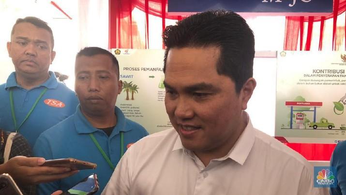 Menteri BUMN Erick Thohir menyebut restrukturisasi utang PT Krakatau Steel Tbk (KRAS) jadi yang terbesar.