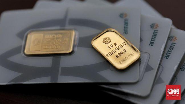 Emas Antam Turun ke Rp774 Ribu per Gram