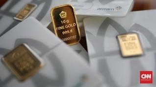 Sentimen Negatif Buat Harga Emas Antam Turun Rp4.000 per Gram