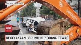VIDEO: Kecelakaan Beruntun di Purwodadi, 7 Orang Tewas